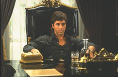 Scarface is a 1983 gangster film, a remake of the 1932 classic, directed by Brian De Palma staring Al Pacino in the role of a tempestuous Cuban emigrant, Tony Montana. Al Pacino, Frank Zappa, Quentin Tarantino, Streaming Movies, Hd Movies, Movies Online, Scarface Film, Movies, Baddies