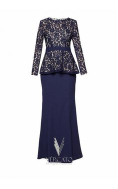 Embody the modern, classic beauty in this stunning baju kurung by VERCATO. The lovely peplum design flatters while the lace overlay and subtle mermaid silhouette exude sophistication. SHOP here: www.vercato.com