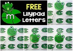 "FREE alphabet game - students can have the frog ""jump"" onto the correct letter or sound"