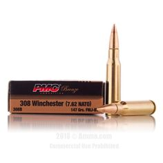 PMC 308 Win Ammo - 500 Rounds of 147 Grain FMJ-BT Ammunition #308Winchester #308WinAmmo #PMC #PMCAmmo #PMC308Win #FMJAmmo