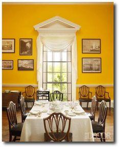 Monticello - Thomas Jefferson's dining room