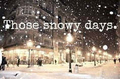 Snowy days in winter - http://inspirequotes.net/snowy-days-in-winter/
