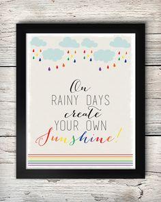 Free Create Your Own Sunshine Print Printable Quotes, Printable Wall Art, Sunshine Printable, Abc For Kids, Kids Poster, Paper Crafts, Diy Crafts, Free Prints, Filofax