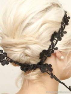 lace used as headband