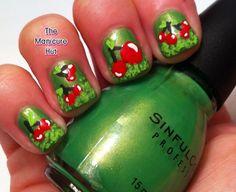 Super Cute Cherry Nails by manicabana - Nail Art Gallery nailartgallery.nailsmag.com by Nails Magazine www.nailsmag.com #nailart