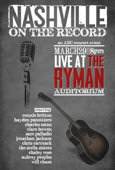 Nashville On The Record Live At The Ryman