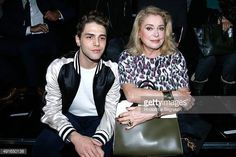 Xavier Dolan and Catherine Deneuve attend the Louis Vuitton show as part of the Paris Fashion Week Womenswear Spring/Summer 2016 Held at Louis...