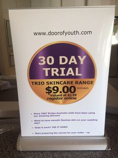 30 day trial - try before you buy $9 (c/a) www.doorofyouth.com
