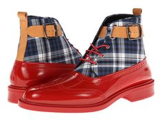 Vivienne Westwood Plaid Boot Brogue Red/Tartan - Zappos.com