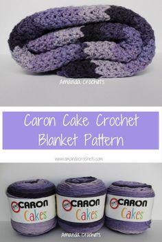 Caron Cake Crochet Blanket Pattern