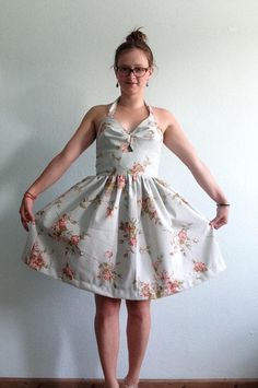 Dress made from curtains