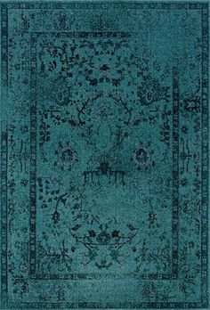 """Amazon.com - Revival Teal/Gray Rug Rug Size: 9'10"""" x 12'10"""" - Area Rugs"""