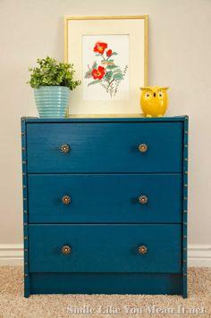 IKEA Rast Nightstands - One of my favorite colors.  Great way to brighten up a room.