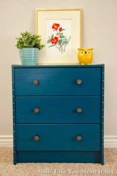 IKEA Rast Nightstands - One of my favorite colors.  Great way to brighten up a room.