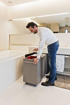 Afbeeldingsresultaat voor wasmand onder wastafel
