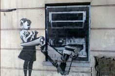 Banksy art at Exmouth Market