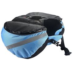 wowowoTM Dog Pack Travel Camping Hiking Saddle Bag Backpack for Medium  Large Dog Blue XL *** You can get additional details at the image link.