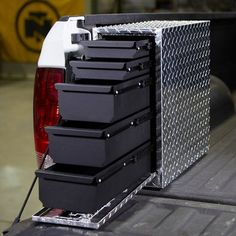 Ironton Sidebed Storage Drawer Truck Tool Box — Aluminum, Diamond Plate, x Truck Bed Storage, Tool Storage, Storage Drawers, Truck Tools, Truck Tool Box, Tool Box On Wheels, Accessoires 4x4, Truck Bed Accessories, Truck Accesories