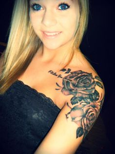 #tattoo #roses #shoulder