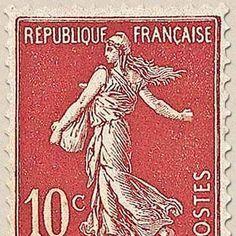 timbre poste de 10 centimes