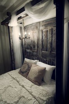 Maybe not this involved, but would like to try something like this to use as a headboard, looks awesome!