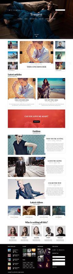 #fashion, #magazine, block, layout, red, header
