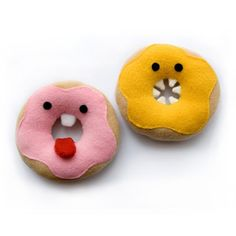 Donut soft toy pdf sewing pattern - cute plushie for children | DIYFluffies on etsy    These are sooo cute, humour in play food, love it!