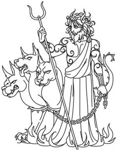 Greek Gods - Hades | Urban Threads: Unique and Awesome Embroidery Designs