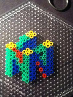 Nintendo 64 Perler Bead creation by JayPopp3942.deviantart.com on @deviantART