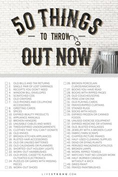 50 Things to Throw Out Now (and How to Dispose of Them) More