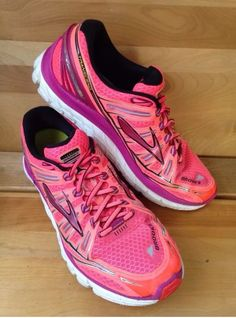 Brooks Transcend Pink Purple Women's Shoe Size 10 5 Running Sneaker | eBay
