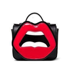 Red Lips Cute Cross Body Bag- by Zeelous Street Style