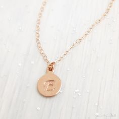 Personalized Rose Gold Necklace  Rose Gold Filled by MuseByLAM, $29.00