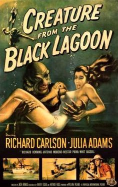 "Creature From The Black Lagoon...classic 50's sci fi film whose plot follows ""King Kong"" very closely. How would youy like to get access to unlmited new and old movies, on demand? Have you heard of the jetbox? Click the Picture."