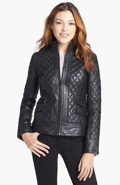 $309, Black Quilted Leather Jacket: LaMarque Quilted Leather Jacket. Sold by Nordstrom. Click for more info: http://lookastic.com/women/shop_items/97338/redirect