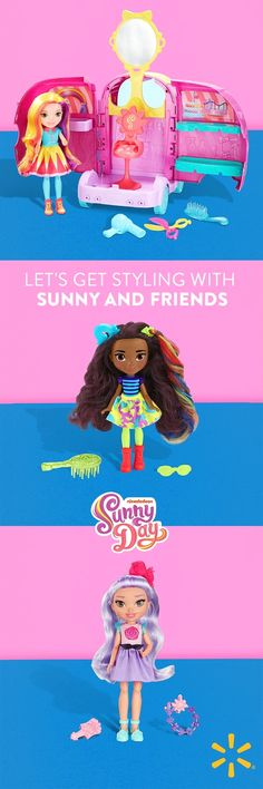 Does your little one love Sunny Day? Sunny Day's first ever toy line has just arrived in style exclusively to Walmart! Now, they can join Sunny and Rox's Style Squad at home with a range of exclusive dolls, accessories and even a glam van. Shop the collec Homemade Fathers Day Gifts, First Fathers Day Gifts, Fathers Day Quotes, Boy Doll, Girl Dolls, Dolls Dolls, Anna Dolls, Dollhouse Dolls, Barbie Dolls