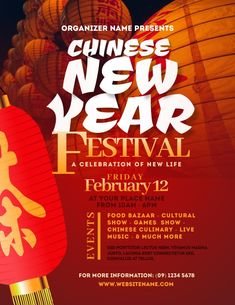 Customize this design with your video, photos and text. Easy to use online tools with thousands of stock photos, clipart and effects. Free downloads, great for printing and sharing online. Flyer (US Letter). Tags: chinese, festival, lunar, new year, party, Event Flyers, Chinese New Year , Chinese New Year Chinese New Year Poster, New Years Poster, Chinese Festival, Festival Flyer, Event Flyers, Share Online, Beautiful Posters, New Year Celebration, Place Names