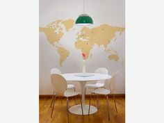 Adesivo de parede Mapa Pins