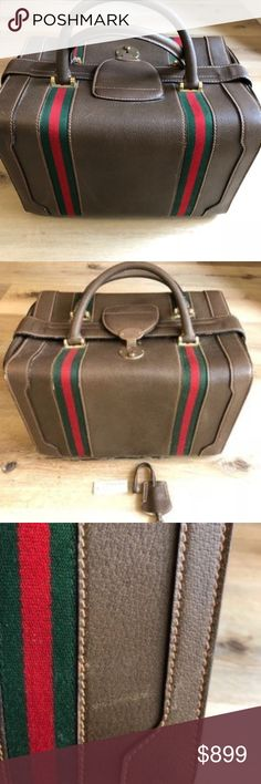 Spotted while shopping on Poshmark: Gucci Vintage Train Case Make Up Tote Travel Bag! #poshmark #fashion #shopping #style #Gucci #Handbags
