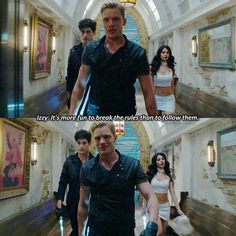 "#Shadowhunters 1x01 ""The Mortal Cup"" -  Isabelle, Alec and Jace"