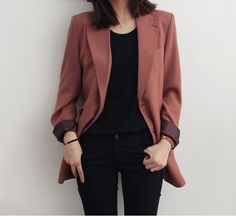 Korean Fashion Trends you can Steal – Designer Fashion Tips Cool Outfits, Casual Outfits, Fashion Outfits, Womens Fashion, Fashion Clothes, Jackets Fashion, Dress Outfits, Work Fashion, Daily Fashion