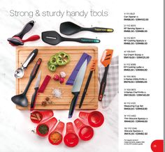 kitchen tools, knives, measuring cups