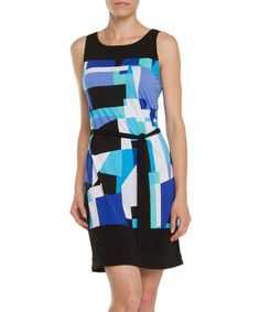 Another great find on #zulily! Blue Abstract Sheath Dress by ARIANNE #zulilyfinds