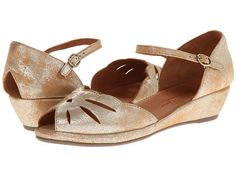 Gentle Souls Lily Moon Gold Metallic Suede - Zappos.com Free Shipping BOTH Ways