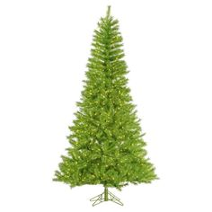 Vickerman Lime / Green Tinsel Pre-lit Christmas Tree - A147876
