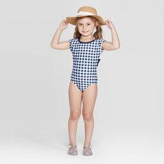 217c973e8d962 Plus Size Girls' Summer Daze One Piece Swimsuit - Cat & Jack Blue XL ...