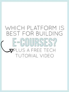 """Dear ninja #infopreneurs: ever wonder which platform you should choose for your next online course? Alisha has the answer. Check out her amazing info on """"Which Platform is Best for Building E-Courses?"""""""
