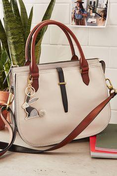 Our favorite new handbag, the Ryder leather satchel.