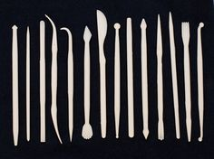 METAL CLAY Design SHAPERS Set of 14 Double Ended Tools by Forgeron, $21.95