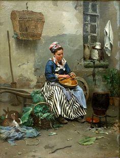 """Preparando la cena"" di D. R. Knight, 1877, Parigi"